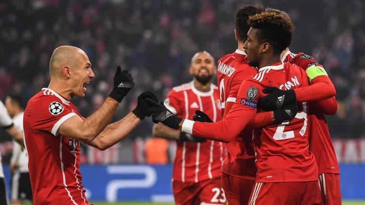 Bayern deklassiert Beskitas Istanbul mit 5:0 – Chelsea und Barcelona trennen sich mit 1:1