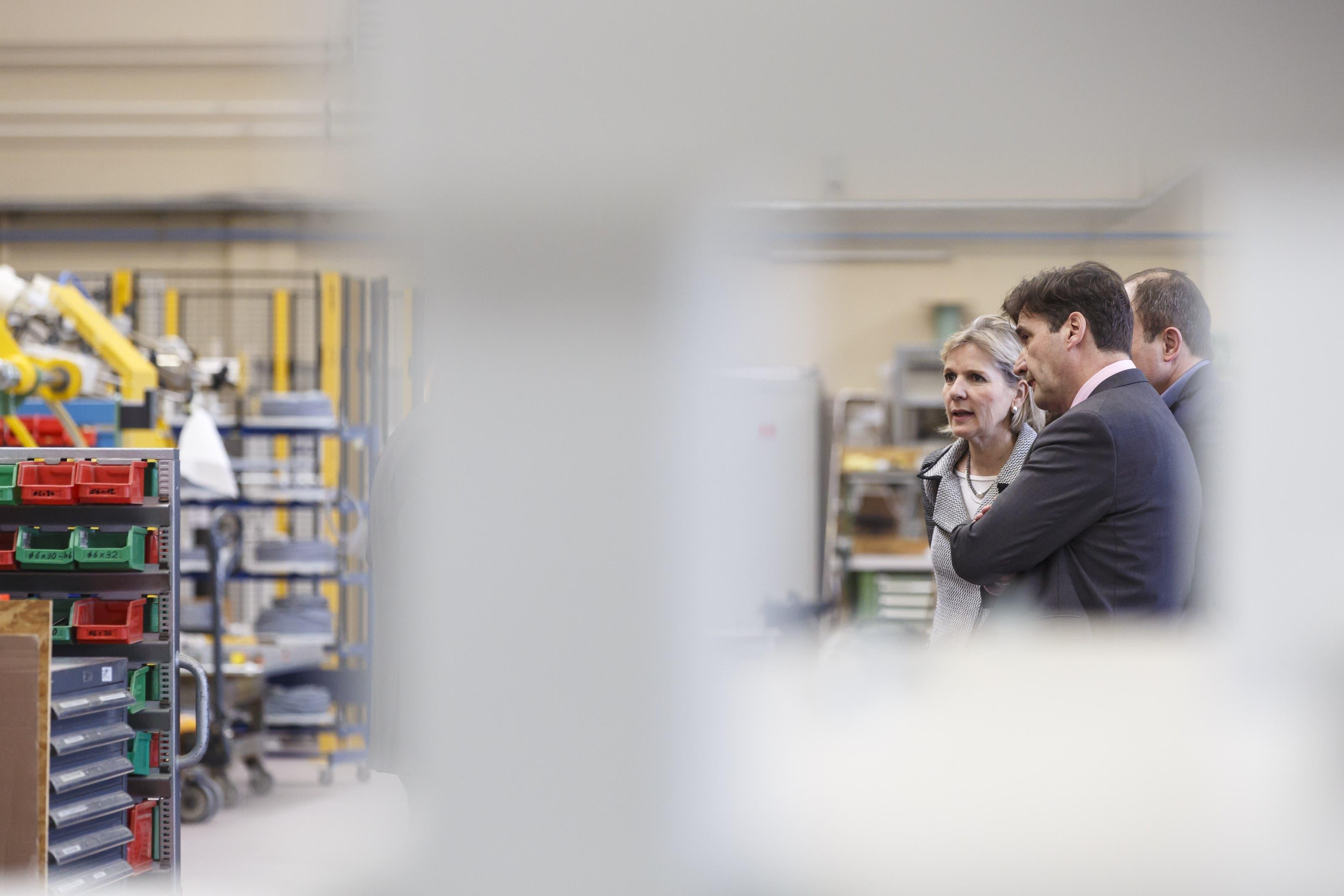 Regierungsrätin Brigit Wyss und der Grenchner Stadtpräsident Francois Scheidegger