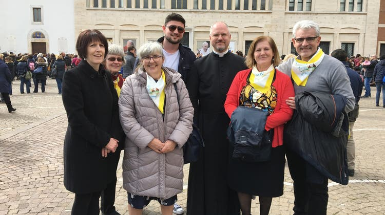 Pilger treffen auf Papst Franziskus