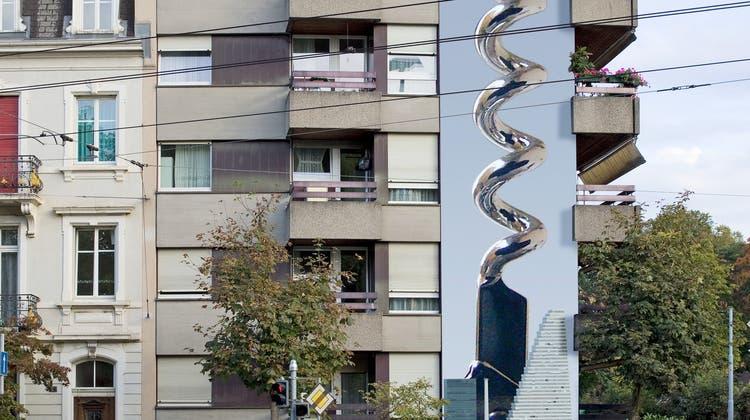 Etwas Farbe für eine öde Gundeli-Fassade: Kanton lässt Bevölkerung über Wandgemälde abstimmen