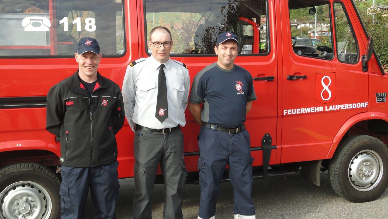 Die Feuerwehr Laupersdorf stellt ihre Schlagkraft eindrücklich unter Beweis