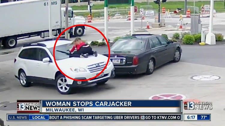 Jemand will ihr Auto klauen – und was tut diese Frau?