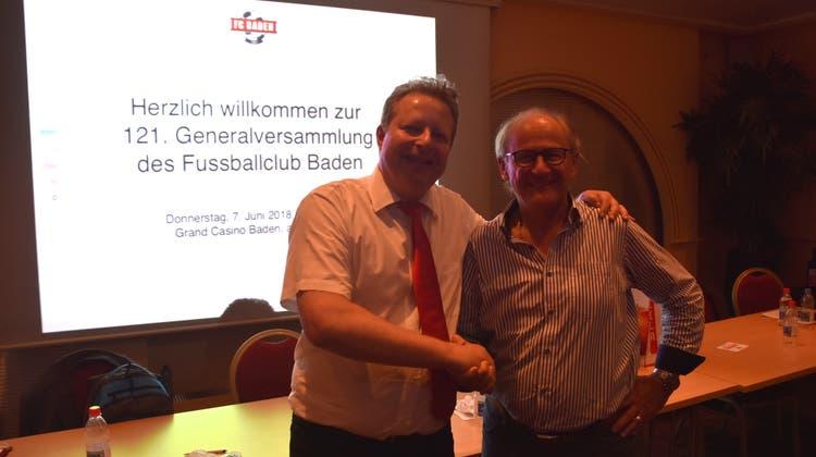 Heinz Gassmann als Präsident des FC Baden gewählt