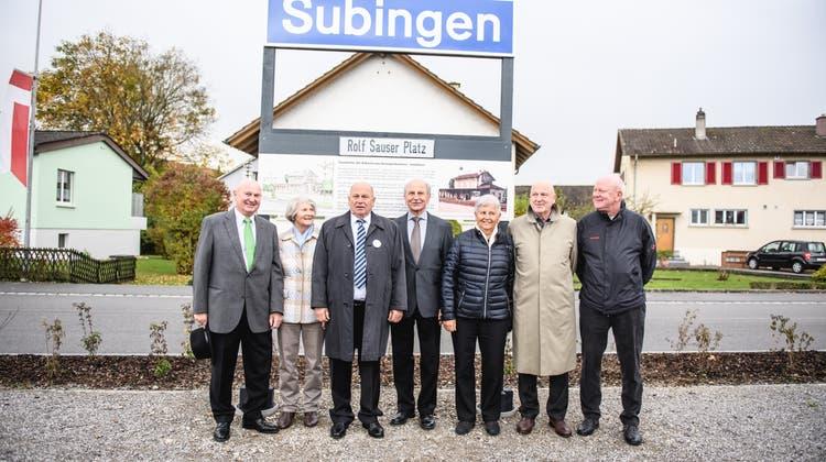 Grosse Ehre für Jubilar: Bahnhofplatz wird nach Ex-Gemeindepräsident benannt