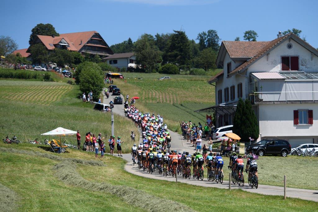 Die Strecke der Etappe bildete ein 172-Kilometer-Rundkurs mit Start- und Zielort in Cham.