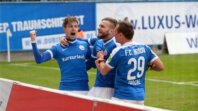 Stephan Andrist: Vom Schwalbenkönig zum Goalgetter bei Hansa Rostock