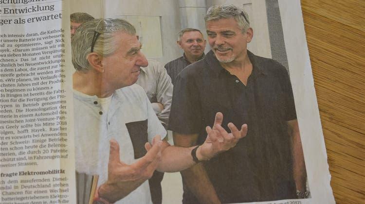 George Clooney war im Baselbiet – und niemand hat's gemerkt