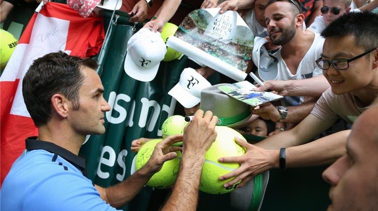 Lasset die Federer-Festspiele beginnen: Für Halle ist der Maestro ein «Tennis-Messias»