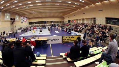 Das Amriswiler Tellenfeld erweist sich in der Coronazeit als idealer Austragungsort für den europäischen Volleyballverband. (Mario Gaccioli)