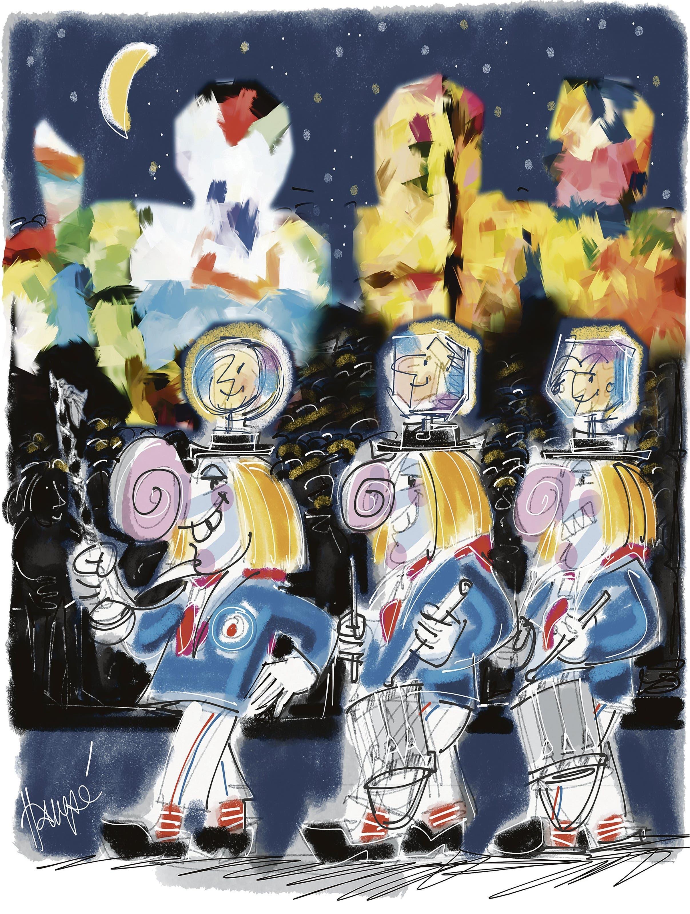 Illustrationen Hampé Wütrich