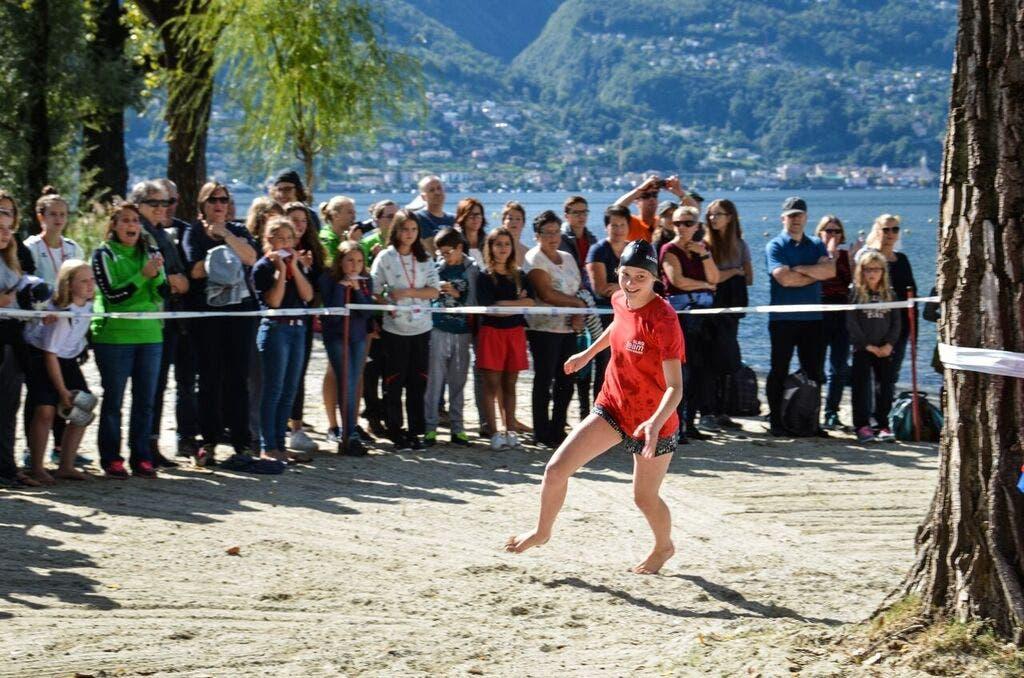 Swim-Run-Swim-Run Wettkampf, Lago Maggiore, Mädchen Baden-Brugg