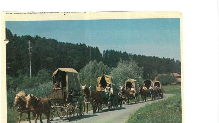 Schulreise mit Ross und Wagen und Jesse James vor Augen