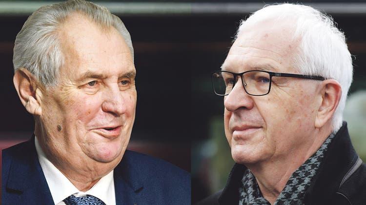 Der Volkstribun gegen den Anständigen: In Tschechien kommt es zum Kopf-an-Kopf-Rennen