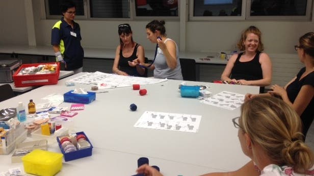 Kindernotfällekurs der Spielgruppe Wunderchnäuel in Würenlingen