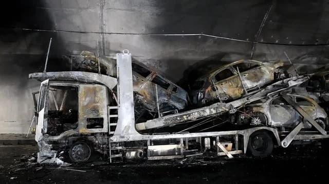 A2 während Stunden gesperrt: So sieht das Lastwagen-Wrack im Piottino-Tunnel aus