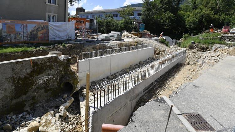 Nächster Schritt beim Hochwasserschutz: Neuer Geschiebesammler und Brücke