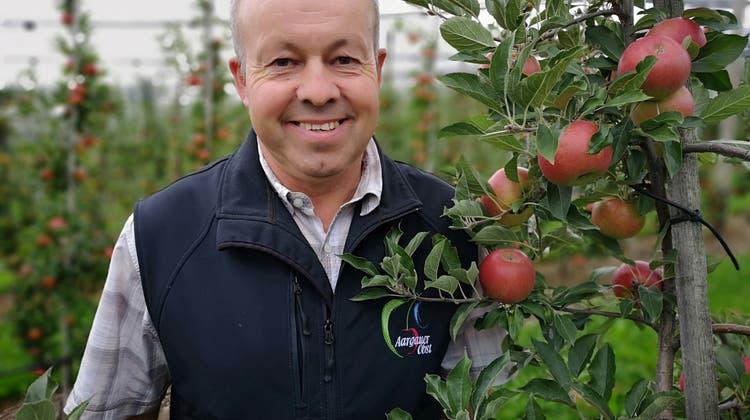Apfelbauer hat nach Sieg beim Kernobst-Qualitätswettbewerb Grund zum Strahlen