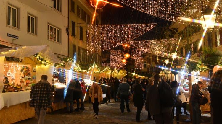 Oltner Weihnachtsmarkt ist eröffnet – nur das Christkind fehlte