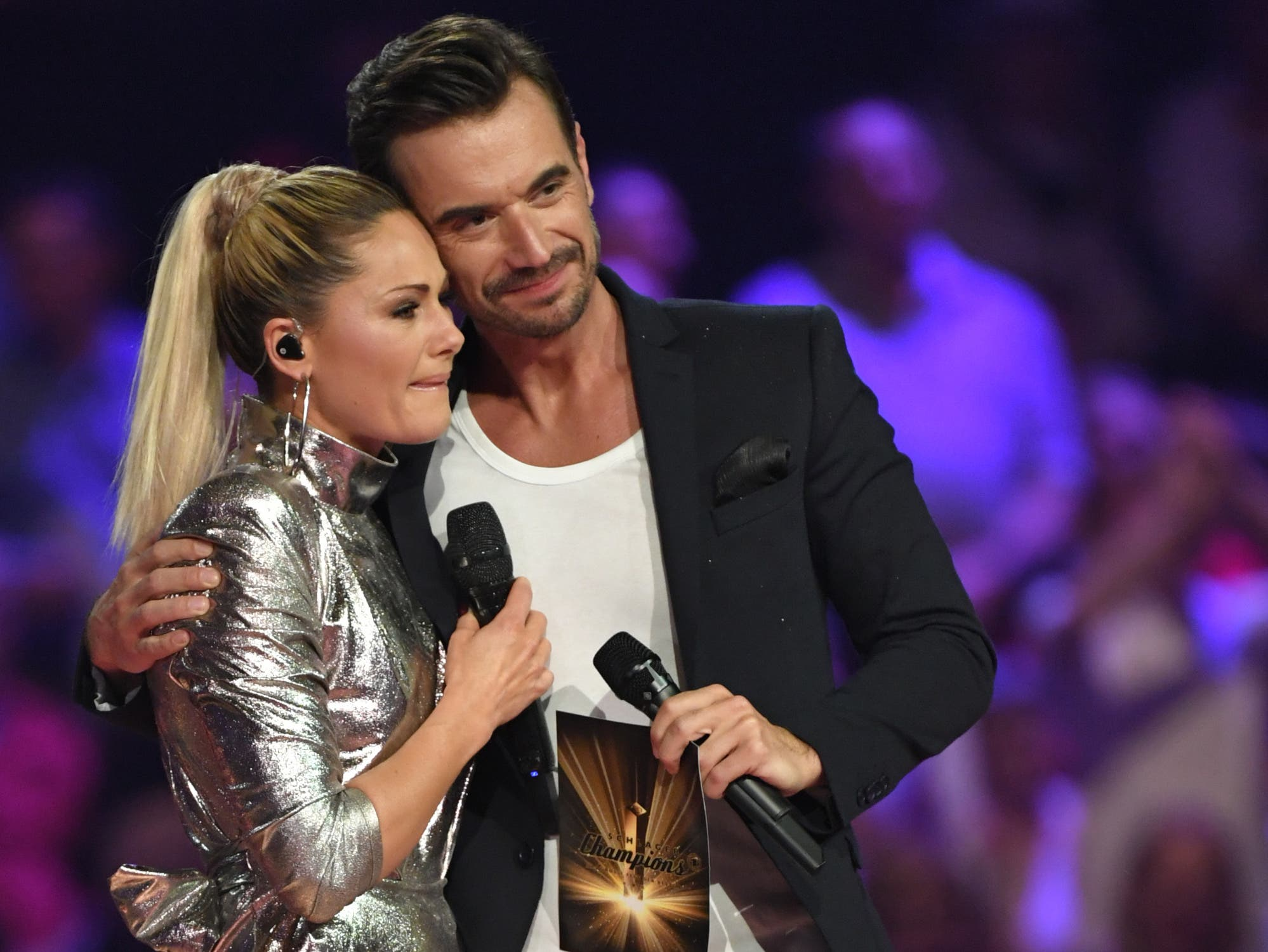 """Erst im Dezember war bekannt geworden, dass Florian Silbereisen und Helene Fischer sich getrennt hatten. Im Januar gabs bei der Livesendung """"Schlagerchampions - Das grosse Fest der Besten"""" ein Wiedersehen auf der Bühne."""