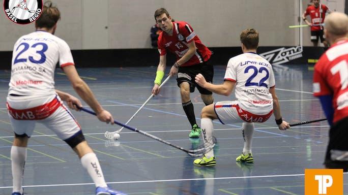 Licht und Schatten in der ersten Doppelrunde der Saison – ein Sieg und eine Niederlage für Unihockey Regio Basel