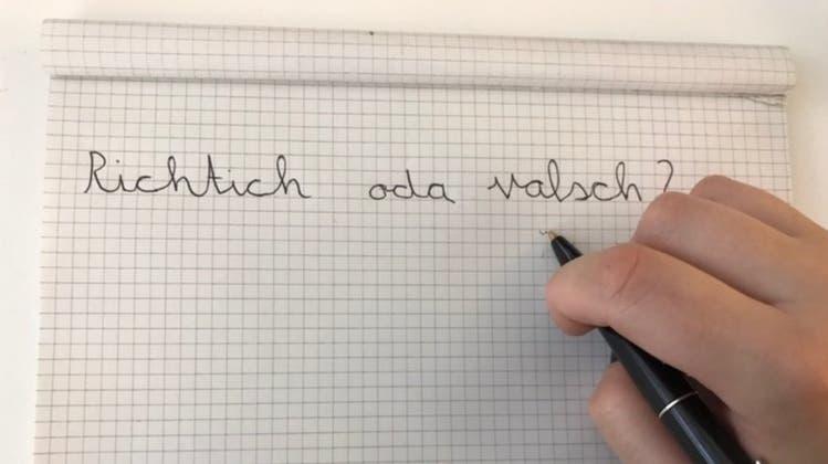 «Groosrähte finden es valfsch und wollen nichd meer»: Weg mit «Schreiben nach Gehör»