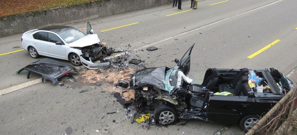 Frontalkollision in Baden