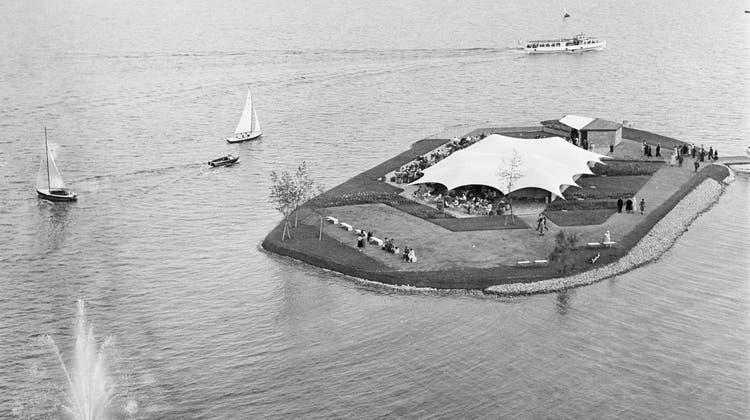 1958 bauten sich Frauen an der Saffa ihre Insel im Zürichsee