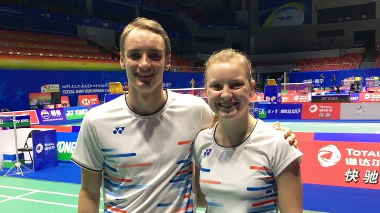 Tobias Künzi und Ronja Stern schnuppern in China Elite-Luft