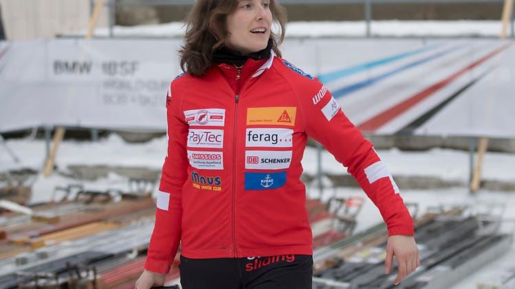 Bobpilotin Sabina Hafner wurde mit dem Baselbieter Sportpreis geehrt