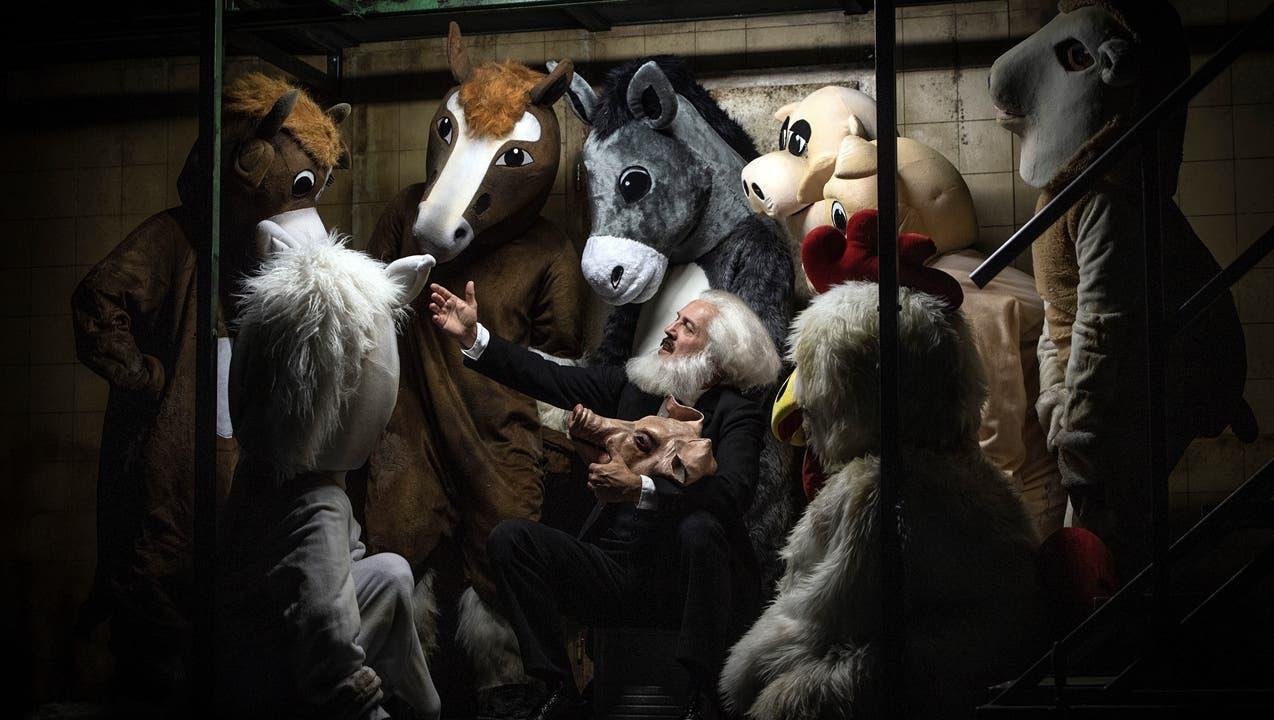 Grüner Klee auf der Schlachtbank: «Animal Farm» begeistert am Stadttheater