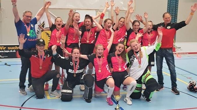 A Juniorinnen der Wild-Tigers Härkingen-Gäu sind Unihockey Schweizermeister