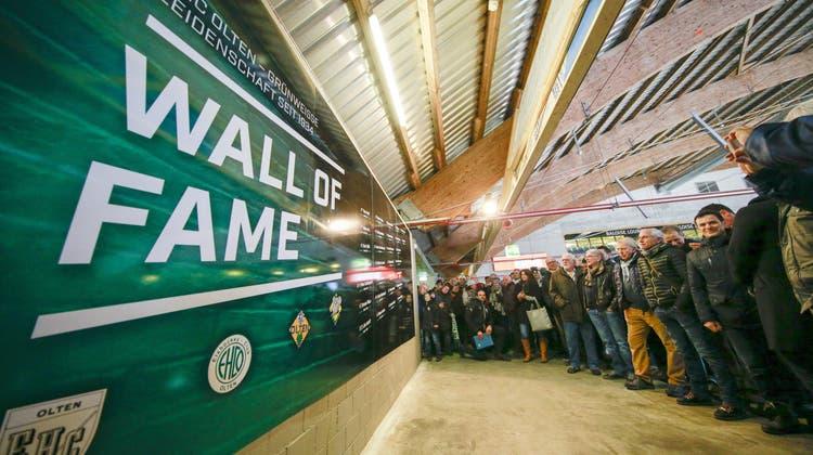 «Wall of Fame» – Klubgeschichte zum Anfassen: So feierte der EHC Olten das 85-Jahr-Jubiläum