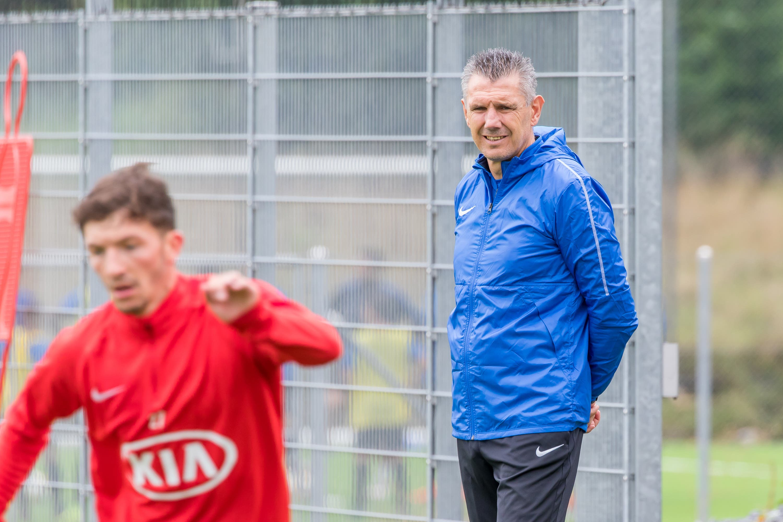 Peter Aleksandrov Das erste Training des neuen Stürmertrainers Petar Aleksandrov beim FC Aarau