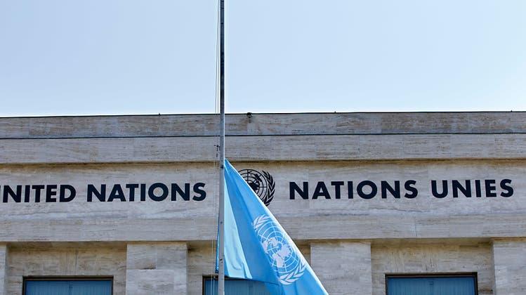 Auch Genf trauert: Fahnen am Uno-Sitz auf Halbmast