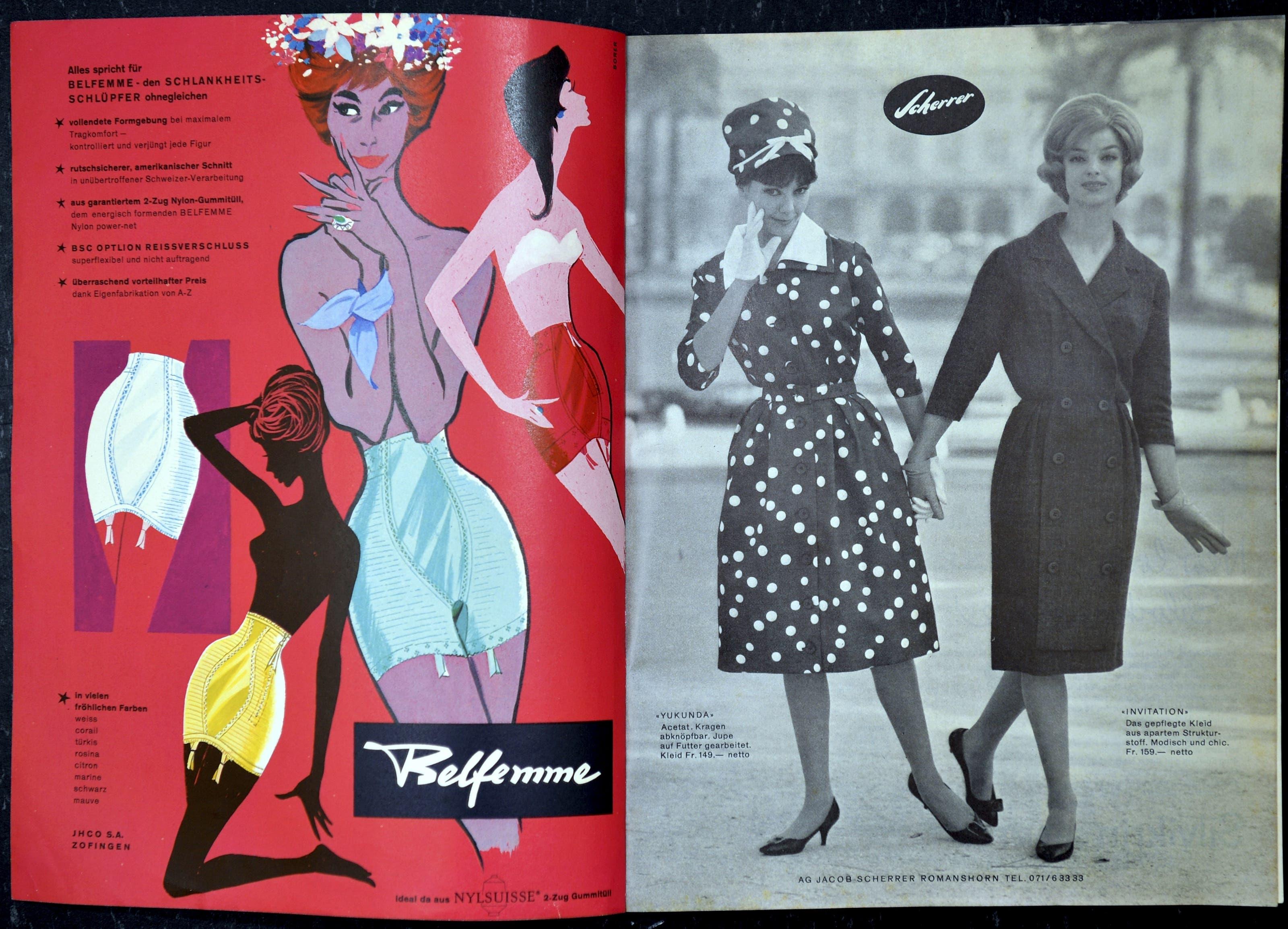 Modekataloge aus den 50er-Jahren, die Luzia Meister in den letzten Jahren gesammelt hat Annabelle, Frühjahr 1960