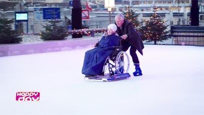 «Happy Day» für Rollstuhlgruppe: Röbi Koller kam persönlich vorbei