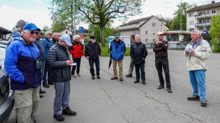 """Excursion mit Dölf Fäs zur """"Aue Chly Rhy"""" Koblenz-Rietheim"""