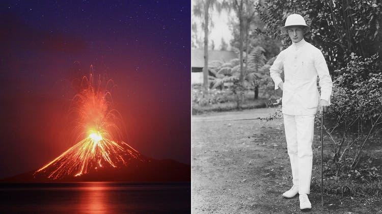 Wie Hotelier Robert Meier den Vulkan Anak Krakatau erlebte: «Lava, rotglühend in Mocken und Brocken»