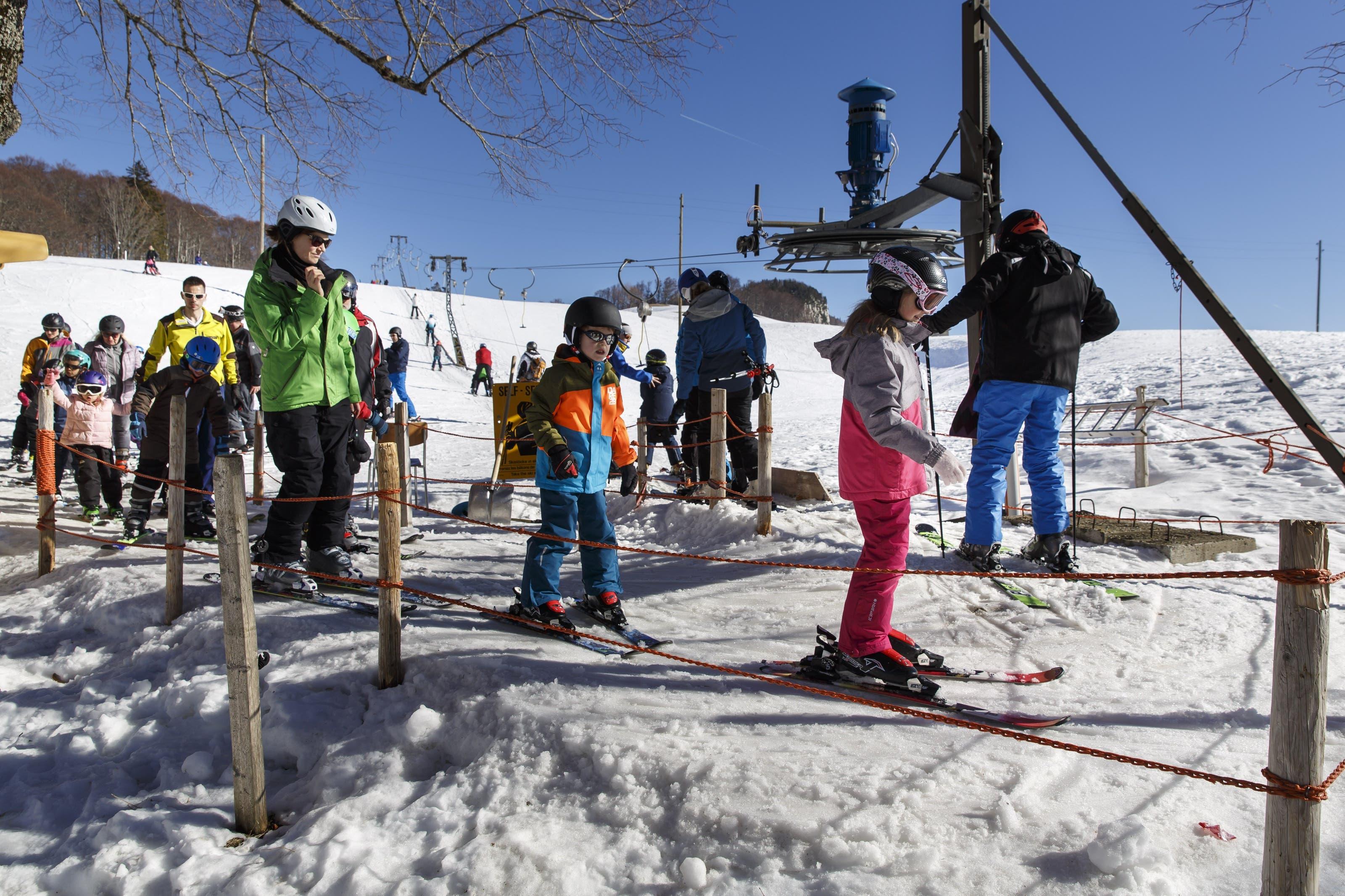 Skifahren auf dem Balmberg am Wochenende vom 16. und 17. Februar 2019