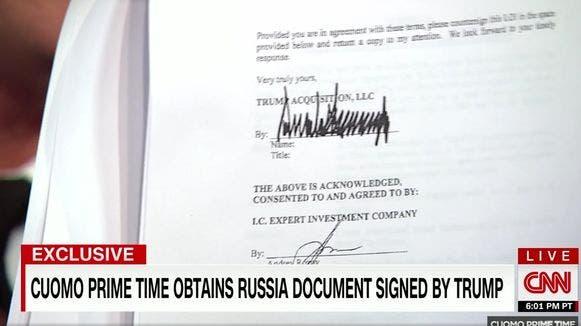 Dieses Dokument beweist, dass Trump wegen des Trump Towers in Moskau gelogen hat
