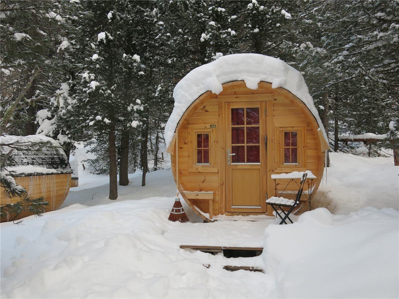 Campingplatz im Winter
