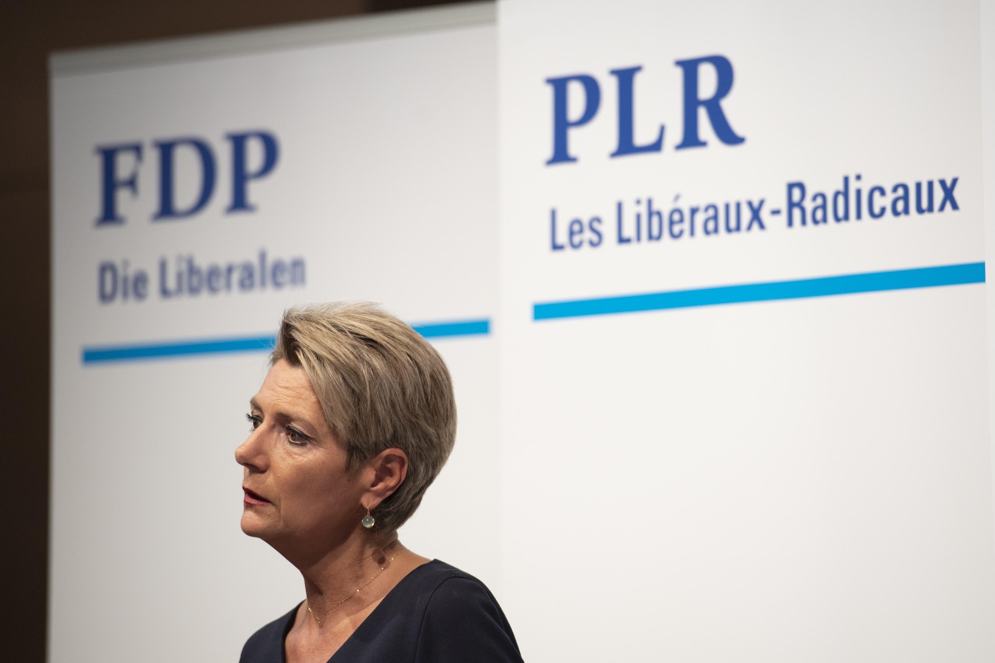 «Ja, ich will»: An der heutigen Medienkonferenz gibt Karin Keller-Sutter ihre Bundesratskandidatur bekannt.