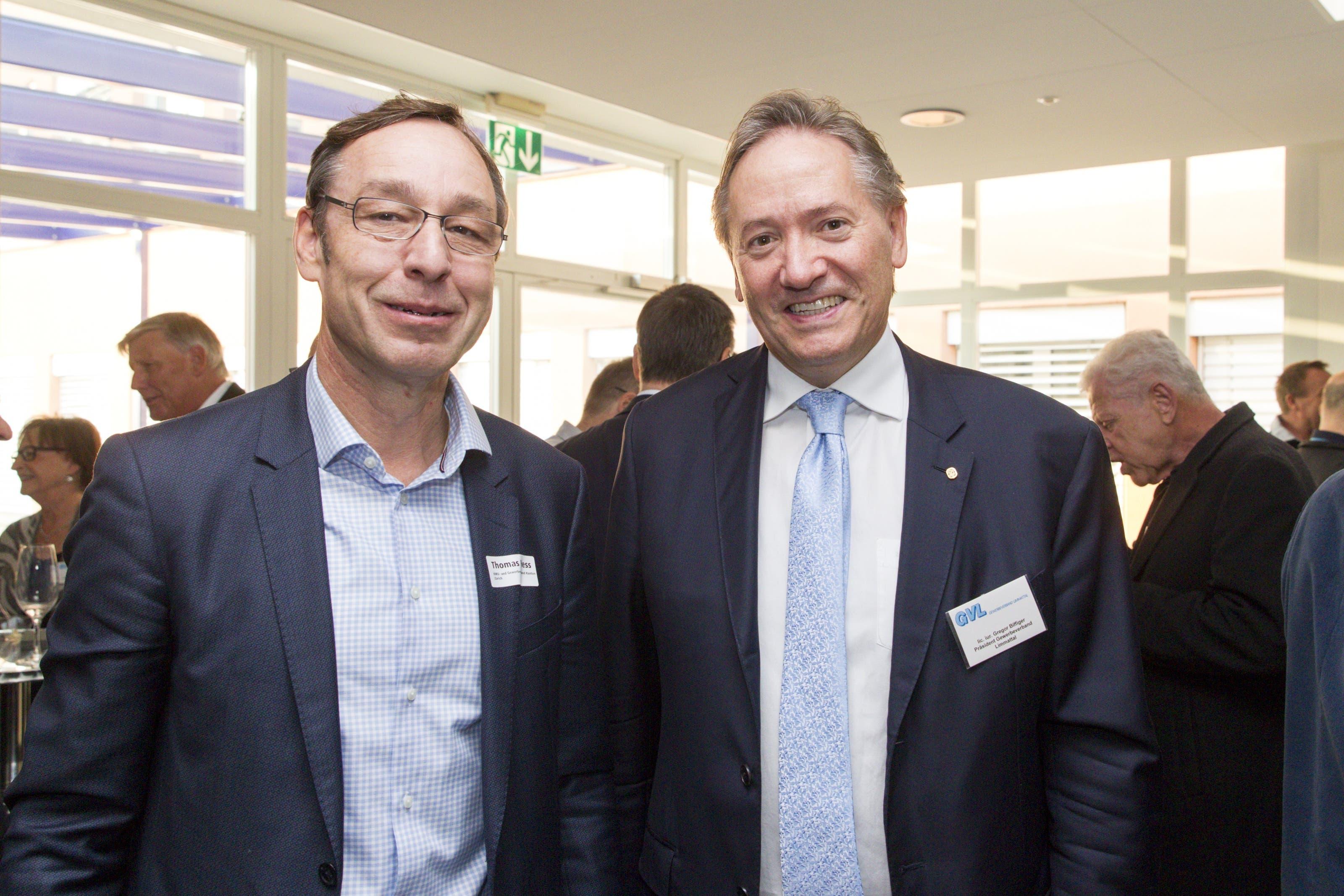 Gute Zusammenarbeit: Thomas Hess, Geschäftsleiter des kantonalen KMU- und Gewerbeverbands, und Gregor Biffiger, Präsident des Gewerbeverbands Limmattal.