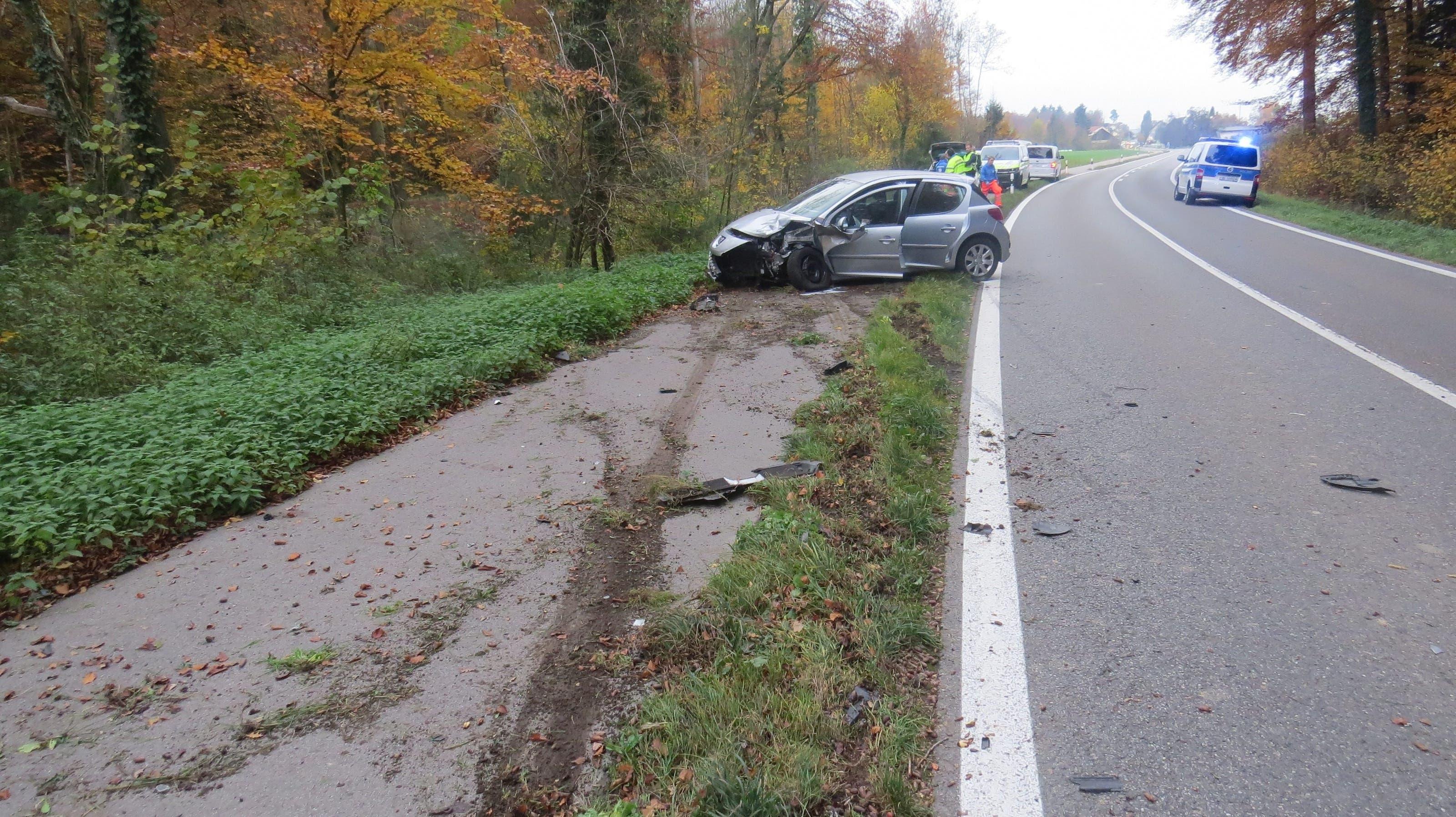 Wie durch ein Wunder wurde beim Unfall niemand verletzt.
