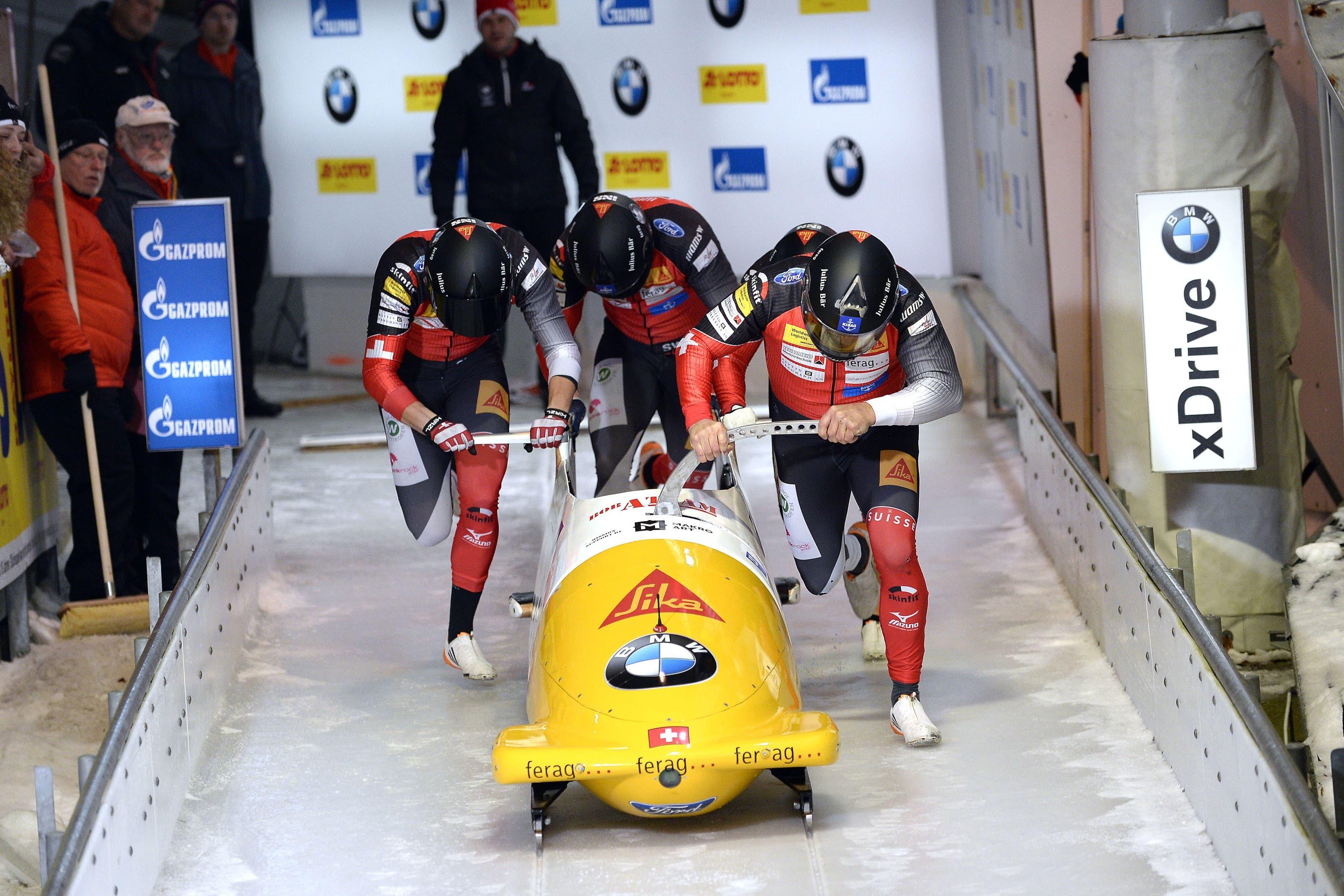 Roger Leimgruber (l.) fuhr kürzlich in Königssee (D) seinen ersten Weltcup.