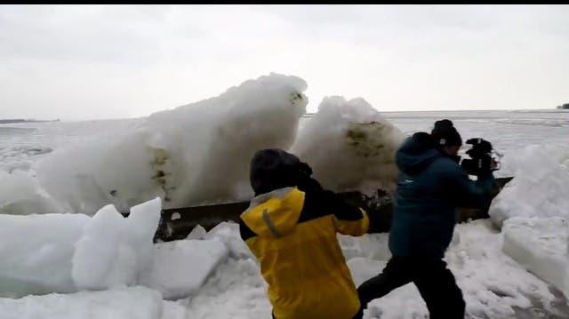 USA und Kanada: Gefährliche Eis-Tsunamis rollen ans Festland