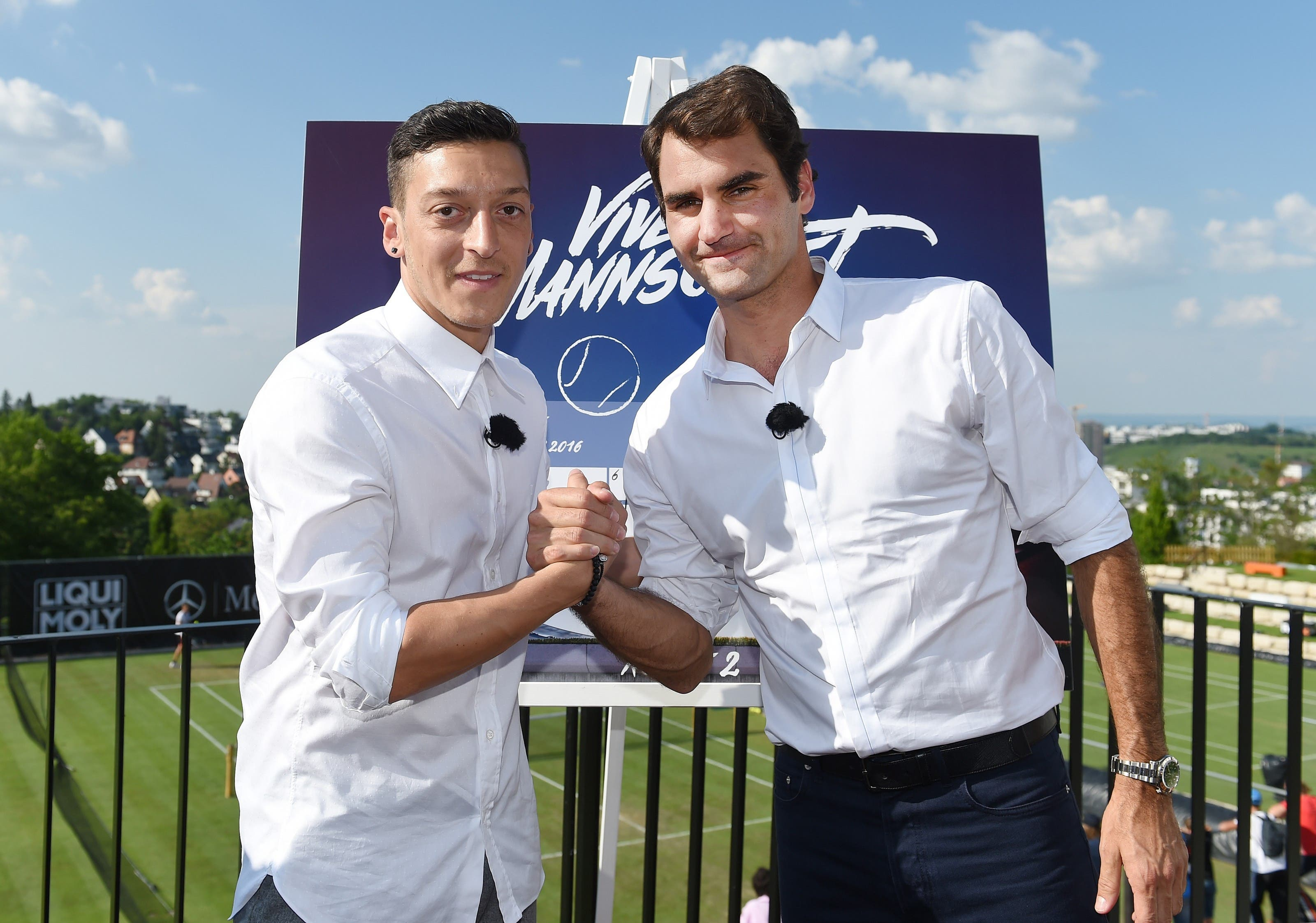 Özil trifft Roger Federer am Mercedes-Cup.