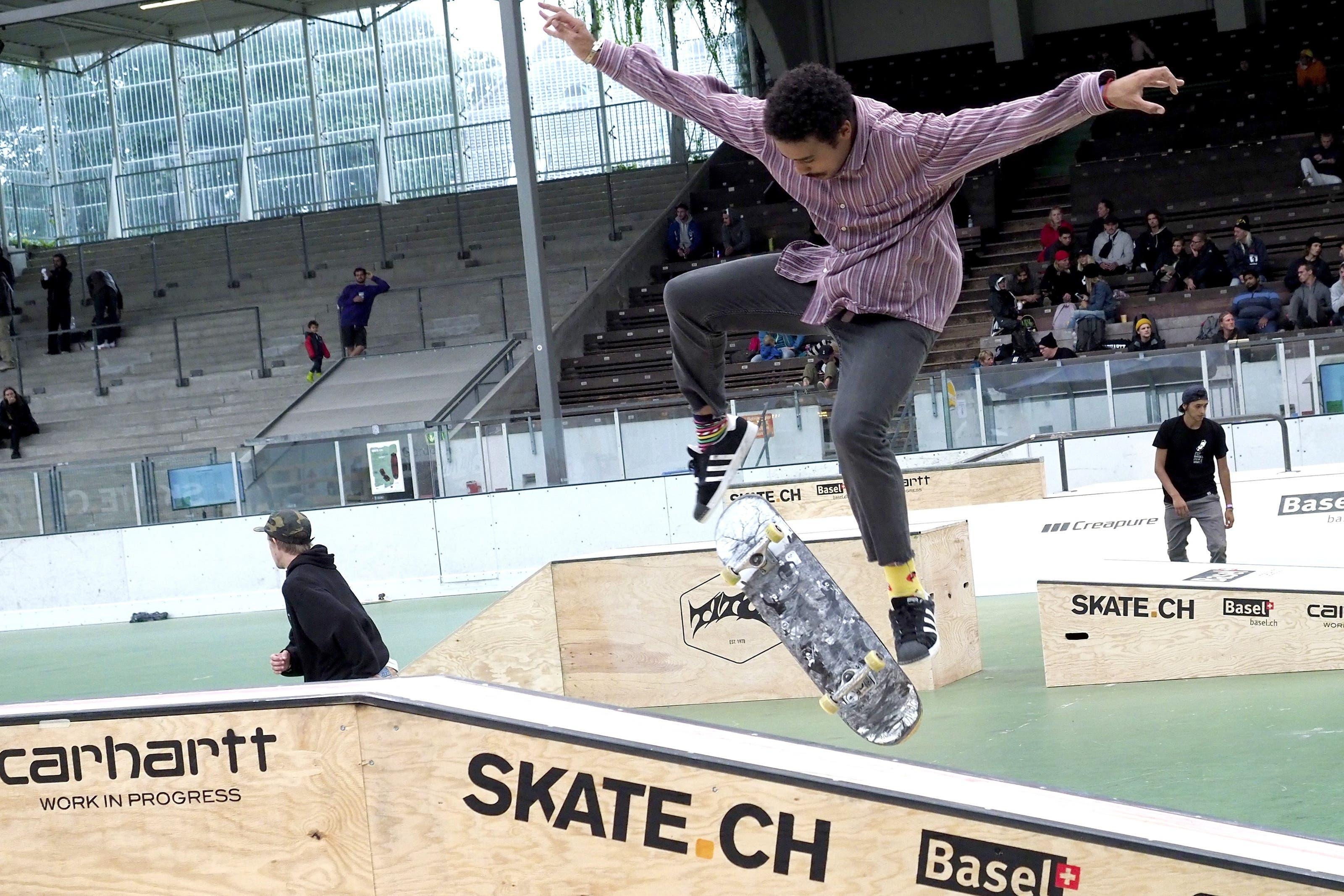 Die Skate-Cracks treffen sich am Wochenende auf der Margarethen-Kunschti in Basel.