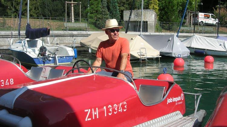 René Sutter verlässt seine Pedalos: Der Bootsvermieter am Zürichsee geht nach 25 Jahren in Pension