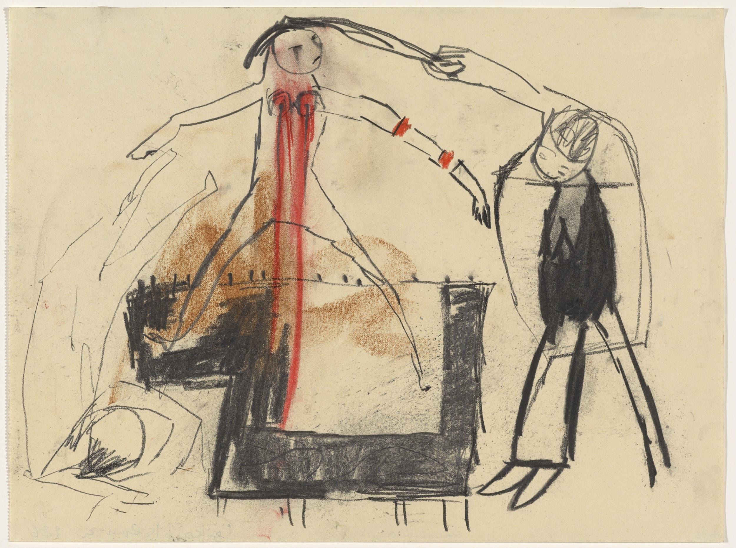 Leiko Ikemura 29.9 x 39.9 cm; Kohle, Bleistift und Farbstift auf Papier Leiko Ikemura Kunstmuseum Basel